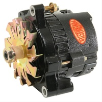 POWERMASTER BLACK DENSO 12V GM RACE ALTERNATOR 100AMP 1 WIRE NO PULLEY PM8072