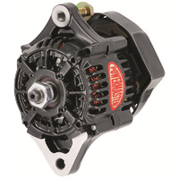POWERMASTER GM DENSO STYLE 55 AMP RACE ALTERNATOR PM8162 BLACK INT REG NO PULLEY