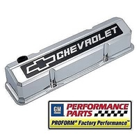 Proform PR141-922 Chev Small Block Gen I 283-400 Chromed Alloy Rocker Cover Tall