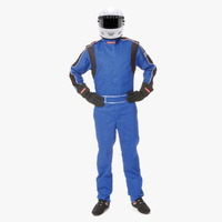 PYROTECT SPORTSMAN DELUXE 1-PCE 2 LAYER RACING SUIT PY210603 BLUE XX-LARGE SFI-5