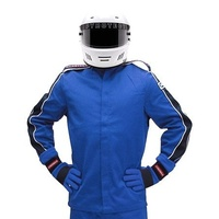 PYROTECT ELIMINATOR BLUE RACING JACKET SMALL PY22J0103 SFI-5 TWO LAYER NOMEX