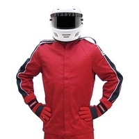 PYROTECT ELIMINATOR RED RACING JACKET MEDIUM PY22J0202 SFI-5 TWO LAYER NOMEX