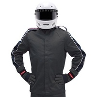 PYROTECT ELIMINATOR BLACK RACING JACKET X-LARGE PY22J0501 SFI-5 TWO LAYER NOMEX