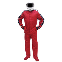 PYROTECT ELIMINATOR RED RACING PANTS SMALL PY22P0102 SFI-5 TWO LAYER NOMEX