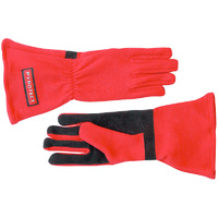 PYROTECT TWO LAYER RED NOMEX RACING GLOVES PYG2220000 MEDIUM SFI 3.5/5