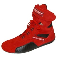 PYROTECT ANKLE TOP RACING SHOES PYX44100 RED SIZE 10 SFI-5 RATED