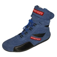 PYROTECT ANKLE TOP RACING SHOES PYX45080 BLUE SIZE 8 SFI-5 RATED