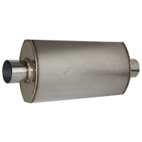 "AR3 S/S Muffler (2-1/2"" With Center Inlet/Outlet) (QTP12250)"