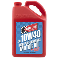 RED LINE 10W/40 SYNTHETIC ENGINE OIL RED11405, 1 GAL (3.785 Litres)