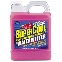 RED LINE SUPERCOOL PERFORMANCE COOLANT RED80205 WITH WATERWETTER 64oz BOTTLE