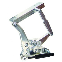 Billet Bonnet Hinge Kit - Natural Finish (Suit 1967-1971 Falcon, Solid Frame for Steel Bonnet) (RING51671-1121NS)