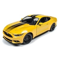 2016 FORD MUSTANG GT 1:18 SCALE DIECAST MODEL RLA- AW229 TRIPLE YELLOW
