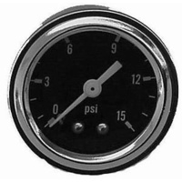 "Racing Power Company RPC5715 1-1/2"" Fuel Rail Pressure Gauge 0-15PSI"