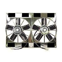 "RPC DUAL ELECTRIC HIGH FLOW 11"" RADIATOR FANS 12V WITH 2800CFM CHROME RPC R1209"
