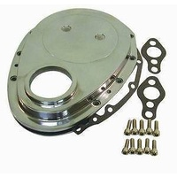 RPC RPCR6040 Chev SB 283-350 Polished Alloy Timing Cover w/ Gaskets & Bolts
