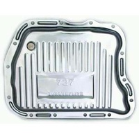 RPC CHROME FINNED DEEP TRANSMISSION PAN RPCR7597 SUIT CHRYSLER 727 TRANSMISSION