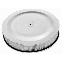 Round Race Car Style Air Cleaner Set 14' x 3' w/Paper Element Chrome Plated Steel Top & Hi-Lip Style Base