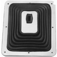 "RPC LARGE RUBBER SHIFTER BOOT RPCR9631 WITH CHROME PLATE 7-3/4"" x 8-3/4"""