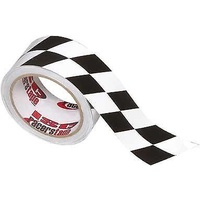 "CHECKERED ANGLED RACING TAPE 2""X45' RT5011"
