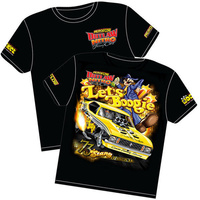AEROFLOW LETS BOOGIE OUTLAW NITRO FUNNY CAR T SHIRT YOUTH LARGE RTLB-YOUTH LARGE