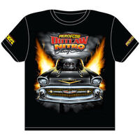 AEROFLOW KNIGHTS OF THUNDER NITRO FUNNY CAR T SHIRT 2XL RTOS-XXL