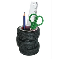 SBL-7590-04 Man Cave Tyre Stack Automotive Pen Holder