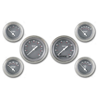 "Classic Instruments (SG01SLF) SG Series 6 Gauge Set- 3 3/8"" Speedo and Tach, 4 2"