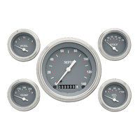 "Classic Instruments (SG54SLF) SG Series 4 5/8"" Speedo, 2 1/8"" Fuel, Oil, Temp, V"