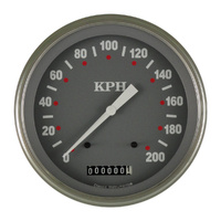 "Classic Instruments (SG58SLF) SG Series 4 5/8"" Speedometer 200 KPH"