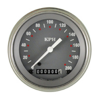 "Classic Instruments (SG59SLF) SG Series 3 3/8"" Speedometer 200 KPH"