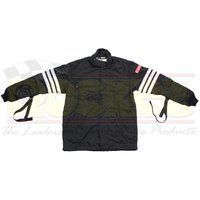 2 Layer Driving Jacket (With Arm Restraints Large Black Gabardine Nomex SFI-5) (SI0402314)