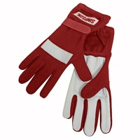 SIMPSON POSIGRIP DRIVING GLOVES SFI 3.3/5 NOMEX/LEATHER SIZE LARGE RED SI21100LR