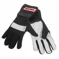 SIMPSON POSIGRIP DRIVING GLOVES SFI NOMEX/LEATHER SIZE X-LARGE BLACK SI21100XL