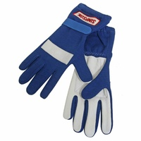 SIMPSON POSIGRIP DRIVING GLOVES SFI NOMEX/LEATHER SIZE X-LARGE BLUE SI21100XLBL