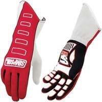 SIMPSON COMPETITOR NOMEX DRIVING GLOVES SFI 3.3/5 SIZE MEDIUM RED SI21300MR