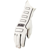 SIMPSON COMPETITOR NOMEX DRIVING GLOVES SFI 3.3/5 SIZE SMALL WHITE SI21300SW