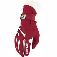 SIMPSON LEGEND DRIVING GLOVES SFI NOMEX/LEATHER SIZE X-LARGE RED SI21700XR