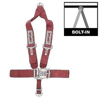 "SIMPSON LATCH F/X 62"" 5-POINT V-HARNES SEAT BELT - PULL DOWN TYPE RED SI29074R"