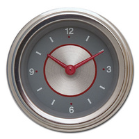 "Classic Instruments (SS90SLF) Silver Series 2 1/8"" Clock"