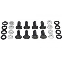 Axle Housing End Fasteners T-bolts 3/8-24 in. Thread Steel Black Oxide Nuts Chrysler 8.75 in. Kit