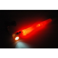3 IN 1 LED GLOW STICK TORCH T14675 BOAT SAFETY LIGHT, GLOW STICK, WHISTLE ORANGE