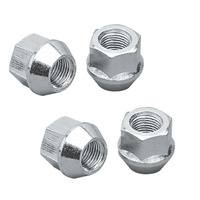 "Bulge Open End Acorn Wheel Nuts - 3/4"" Hex (12mm x 1.25"" Thread (Set Of 4)) (TLC1306B-4)"