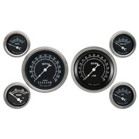 "Classic Instruments (TR01SLF) Traditional 6 Gauge Set- 3 3/8"" Speedo and Tach, 4"