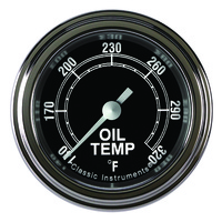 "Classic Instruments (TR128SLF) Traditional 2 1/8"" Full Sweep Oil Temp"