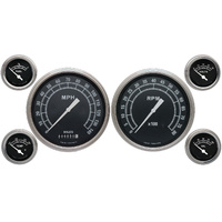 "Classic Instruments (TR51SLF) Traditional 4 5/8"" Speedo & Tach, 2 1/8"" Fuel, Oil"