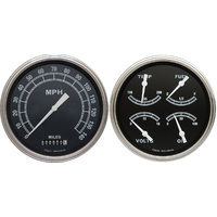 "Classic Instruments (TR52SLF) Traditional 4 5/8"" Speedo & Quad"