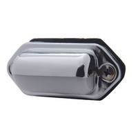 UPI REPRODUCTIONS CHROME LICENSE PLATE LIGHT UP30362P RECTANGLE WITH CLEAR LIGHT
