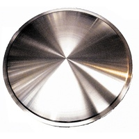 "UPI Reproductions UPRDC01-14 Moon Style 14"" Brushed Stainless Steel Wheel Covers Rims"
