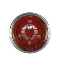 "Classic Instruments (V8RS26SHC) V8 Red Steelie 2 1/8"" Water Temperature"
