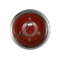 "Classic Instruments (V8RS81SHC) V8 Red Steelie 2 1/8"" Oil Pressure"